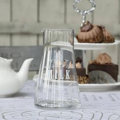 glass milk jug by lindsay interiors | notonthehighstreet.com