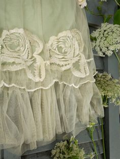 ZsaZsa Bellagio – Like No Other: Shabby Sweet Love Antique Lace, Vintage Lace, Vintage Romance, Vintage Party, Vintage Green, Shabby Chic, Boho Chic, Fru Fru, Queen Annes Lace