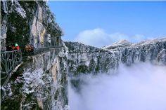 The mystical misty Tianzi Mountains of China