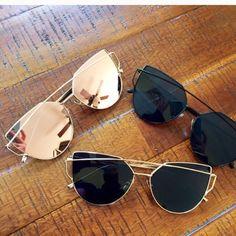 Siena Sunglasses - Rose Gold Mirror - Accessories of Women Cute Sunglasses, Black Sunglasses, Ray Ban Sunglasses, Sunglasses Accessories, Women's Accessories, Sunglasses Women, Sunglasses Outlet, Summer Sunglasses, Trending Sunglasses