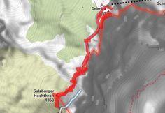 Salzburger Hochthron (Untersberg) - BERGFEX - Wanderung - Tour Salzburger Land Map, Tours, Hiking, Location Map, Maps