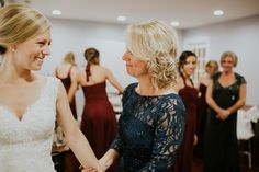 Bride and mother of the bride moment