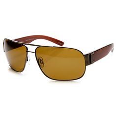 Polarized Premium Modern Metal Flat Top Aviator Sunglasses
