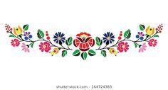 A beautiful hungarian Kalocsai floral pattern.