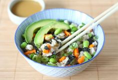 #Veggie Sushi Salad - yummy freshness of sushi without the cost. and without the fish, but you could add that if you wanted it. Favorite summer salad