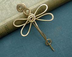 Little Dragonfly Shawl Pin Scarf Pin Sweater by nicholasandfelice