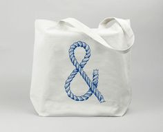 Marrying two cresting trends - Ampersands and Nautical Ropes. I don't mind. It's a tote.