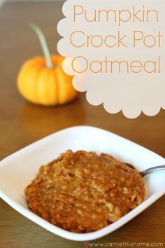 Pumpkin Crock Pot Oatmeal...unless you want to feed an army, use half the recipe. I also used honey, coconut water and unsweetened almond milk instead of the brown sugar, apple juice and added water. I also added ground flax seed and cinnamon...delish! Even half made left over for days!