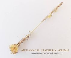 Vintage Pearl Fiction Inspired Wand Gothic Pagan Fairy Light