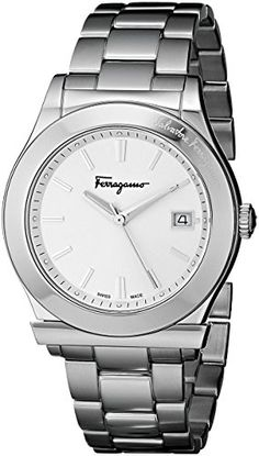 Men's Wrist Watches - Salvatore Ferragamo Mens FF3960014 1898 Stainless Steel Watch >>> Click image for more details.