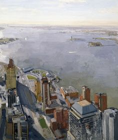 World Trade Center: View of Harbor, 1998, oil on canvas, 76 x 66 in John Dubrow