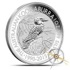 LOOK-2015-1-oz-silver-Perth-Mint-Kookaburra-1-AUSTRALIAN-COIN-NICE