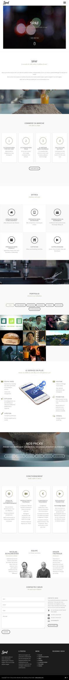 Conception d'un site vitrine offrant divers types de services autour de tournages vidéos.