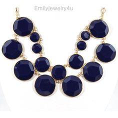 NEW Navy Blue Bubble Necklace,Bubble Jewelry,Statement Neckalce,Cluster Necklace-BN0316. $16.00, via Etsy.