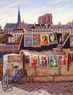 Image result for paris art stands