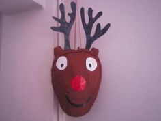 Rudolph pinata ...Great for Christmas or for a party
