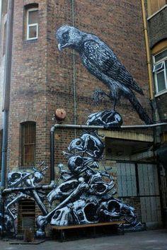 #roa #urbanart #streetartists #streetart #freewalls #graffiti #urbanart #graffitiart