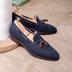 """982 Likes, 8 Comments - Carmina Shoemaker (@carminashoemaker) on Instagram: """"Discover our new tassel loafers in navy suede and brown braided lace. Link in bio.…"""""""