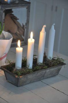 Scandinavian Advent Candle Idea