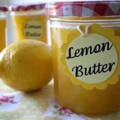 "Lemon Butter Allrecipes.com      ""Serve this thick and creamy, lemon-flavored butter warm over gingerbread or blueberry muffins. You can also top ice cream with it! This recipe will also work with margarine instead of butter."""