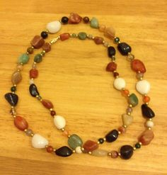 Long Beaded Necklace by URBANQUEST on Etsy, $20.00