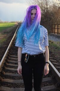 #blue&purpleombre