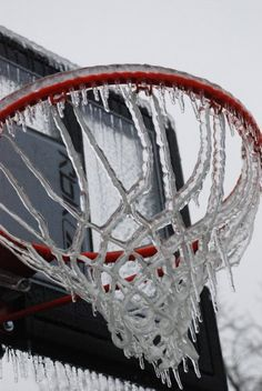 Basketball in Alaska! Except its basically covered in snow too
