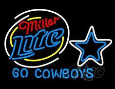 Miller Lite Go Dallas Cowboys NFL Beer Neon Sign