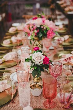 Wedding reception flower idea; photo: Melissa Biador