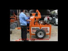 is equipped with two wheels, you can move this machine easily to anywhere you want. Moreover, this machine is powered by diesel engine. Making Machine, 8 Hours, Diesel Engine, Brick, Monster Trucks, Wheels, Bricks