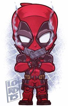 Chibi Deadpool by Lord Mesa Marvel Dc Comics, Chibi Marvel, Marvel Cartoons, Marvel Vs, Marvel Heroes, Chibi Superhero, Ultron Marvel, Deadpool Animated, Deadpool Art