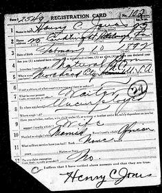 Military Monday: Henry C Jones World War I and II Draft Registration Cards #geneabloggers #genealogy