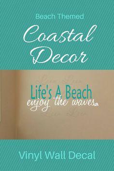Life's a Beach coastal decor vinyl wall decal #ad