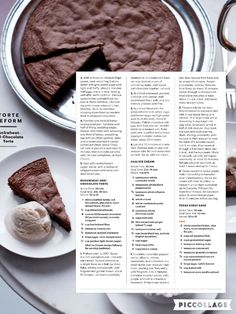 Buckwheat Chocolate Cake & Chai Ice Cream from Martha Stewart February 2016