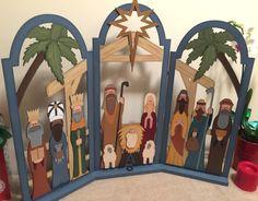 Christmas paint nativity