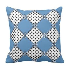 Country-Living--Farmhouse- Blue-Diamond &  Dot's Throw Pillow-Indoor & Oudoor Fabric's_Stylish Country Living