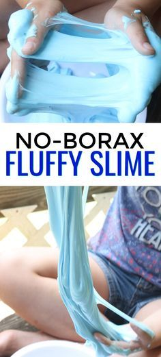 This easy no borax Fluffy Slime recipe is a safe slime recipe for kids. It's made with Contact solution, Baking Soda, Shaving Cream and Glue. You can add fun colors to this slime sensory experiment to give it your own personal touch.  via @mellisaswigart