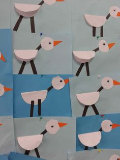 Stork craft idea for kids Bird Crafts, Animal Crafts, Fun Crafts, Diy And Crafts, Arts And Crafts, Spring Crafts For Kids, Autumn Crafts, Art For Kids, Paper Birds