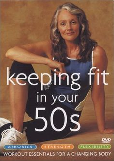 DON'T LET THE TITLE FREAK YOU! This is great, even if younger (40's), especially if you're not big into exercise and just starting to get back in shape after awhile away. I like that I don't have to be a sleek beauty queen for this. My favorite one of three: Aerobics.  Keeping Fit in Your 50s 3-Pack (Aerobics / Strength / Flexibility) DVD ~ Cindy Joseph, http://www.amazon.com/dp/B0000UQQTO/ref=cm_sw_r_pi_dp_iHLhsb11GNBYW