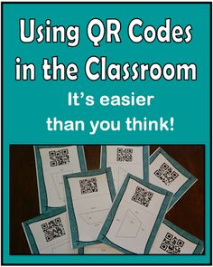 QR code task cards - students answer the problem, scan the QR code to see if they are correct....Love It!!