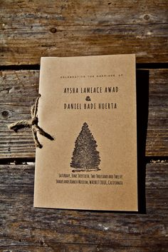 Diy rustic wedding programs