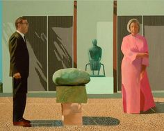David Hockney American Collectors (Fred and Marcia Weisman)