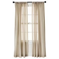 Threshold™ Leno Weave Sheer Curtain Panel - Tan