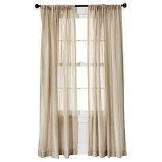 Threshold™ Leno Weave Sheer Curtain Panel - Tan