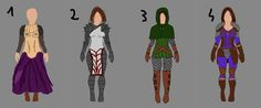 What do you thing about my concept arts famale armors? Give me some your suggestions about changes. Give me some new ideas too. All improve my board game and concent. Thanks!