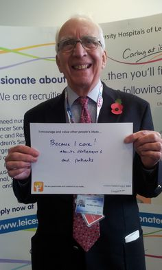 """Geoffrey Smith, Patient Advisor: """"""""Because I care! about colleagues and patients"""""""