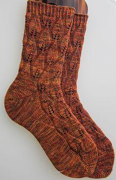 Ravelry: Autumn Fires pattern by La Maison de Saba free sock pattern Crochet Socks, Knit Or Crochet, Knitting Socks, Knit Socks, Knitted Slippers, Crochet Granny, Free Knitting, Sock Recipe, Recipe Recipe