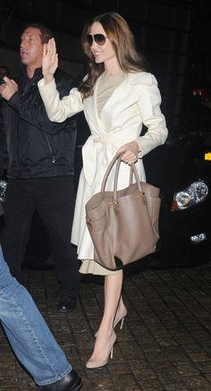 Angelina Jolie - Not a fan, but omg the coat!!