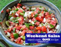 Super easy, very fast salsa recipe. #salsa #recipe