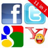 Facebook, Twitter, Google, Yahoo (11 in 1) - PrestaShop Module
